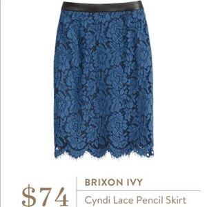 NWT Stitchfix blue lace skirt
